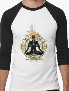Mind Body and Soul KUNDALINI Men's Baseball ¾ T-Shirt
