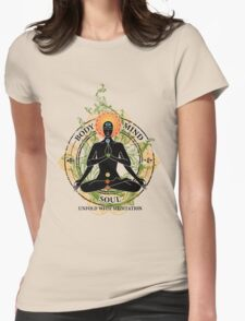 Mind Body and Soul KUNDALINI Womens Fitted T-Shirt