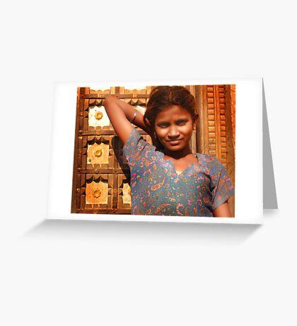 Rohet girl Greeting Card