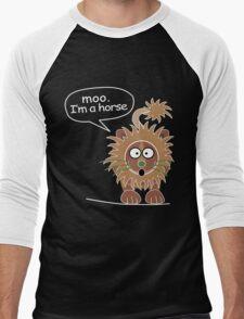 Moo. I'm a horse Men's Baseball ¾ T-Shirt