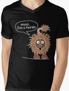 Moo. I'm a horse Mens V-Neck T-Shirt