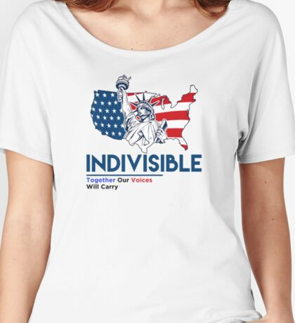Indivisible: Liberal Anti Trump Movement Women's Relaxed Fit T-Shirt