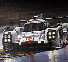 2014 Le Mans 24 Porsche 919 Hybrid  by Yuriy Shevchuk