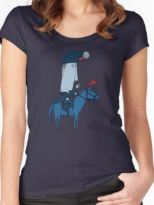Napoleon and his Horse Women's Fitted Scoop T-Shirt