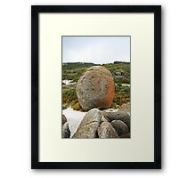 Beach Rock Framed Print