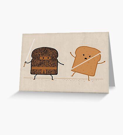 Ninja Toast Greeting Card