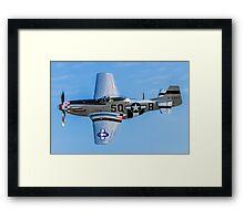 """P-51D Mustang 44-13521/5Q-B G-MRLL """"Marinell"""" Framed Print"""