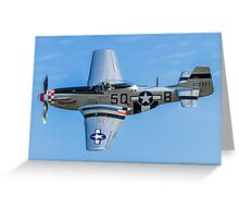 "P-51D Mustang 44-13521/5Q-B G-MRLL ""Marinell"" Greeting Card"