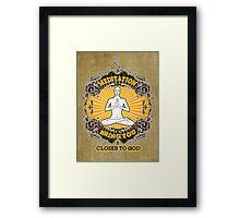 meditation bring you closer to god Framed Print