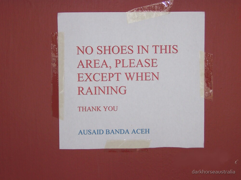 Sign in Banda Aceh by darkhorseaustralia