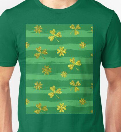 st patricks golden shamrocks Unisex T-Shirt