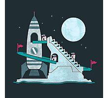Penguin Space Race Photographic Print