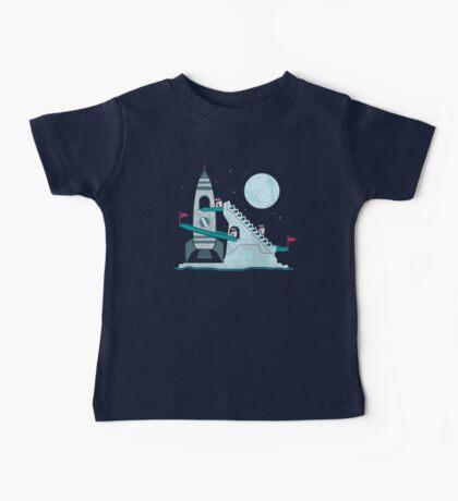 Penguin Space Race Baby Tee