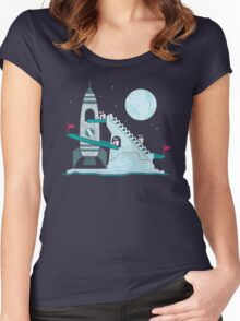 Penguin Space Race Women's Fitted Scoop T-Shirt