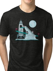 Penguin Space Race Tri-blend T-Shirt