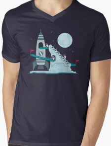 Penguin Space Race Mens V-Neck T-Shirt