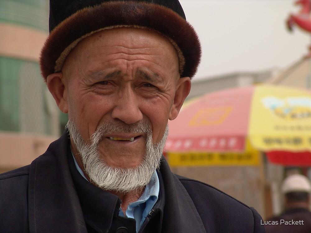 Kashgar, Elderly Uyghur Man by Lucas Packett