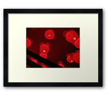 Red Velvet Moons Framed Print
