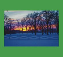 SCENIC SNOW SUNSET Kids Clothes