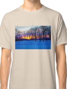 SCENIC SNOW SUNSET Classic T-Shirt