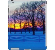 SCENIC SNOW SUNSET iPad Case/Skin