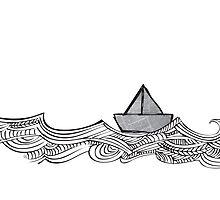 Paper Boat Ahoy by ggloui