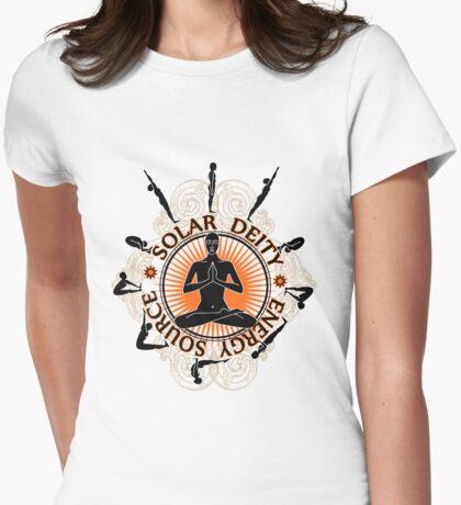Surya Namaskar Womens Fitted T-Shirt