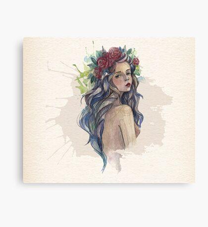 Watercolor Beauty Canvas Print