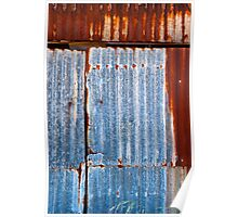 Rusted corrugated iron shed. Poster