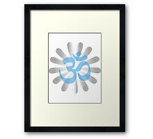 OM script in different language Framed Print