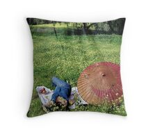First the Rain... Throw Pillow