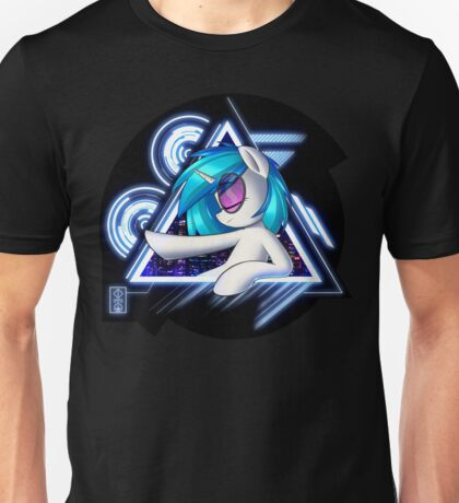 Dj Pon3 - Vinyl Scratch City Lights Unisex T-Shirt