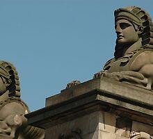 Sphinx statues Edinburgh Scottland by Brennen Cole