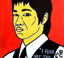 Bruce Lee Folk Art by krusefolkart