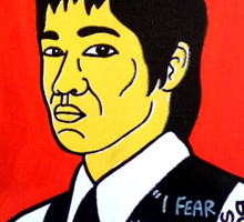 Bruce Lee Folk Art Sticker