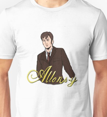 Allons-y The Tenth Doctor Unisex T-Shirt