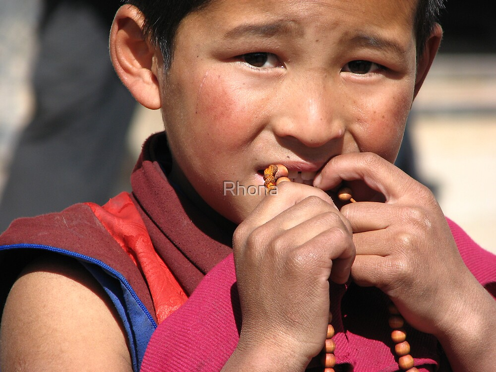 Young Monk by Rhona