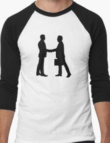 Business men shake hands Men's Baseball ¾ T-Shirt