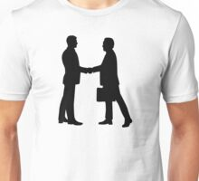 Business men shake hands Unisex T-Shirt