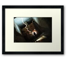 Follow My Shadow Framed Print