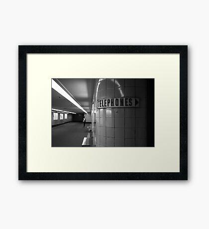 flinder's depths Framed Print