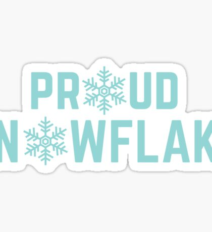 Proud Snowflake Sticker