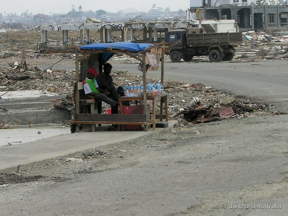 Street Stall........post tsunami by darkhorseaustralia