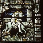 Stained Glass Malvern Priory Greater Malvern England 198405180078 by Fred Mitchell