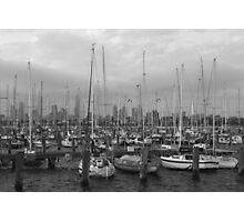 St Kilda Pier Boats Photographic Print