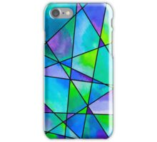 Cool Watercolour Mosaic  iPhone Case/Skin
