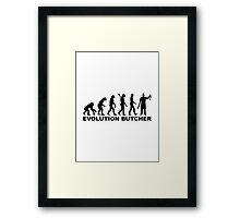 Evolution butcher Framed Print