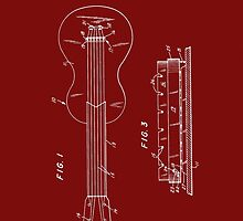 Les Paul Guitar Patent-(Red) by Barry  Jones