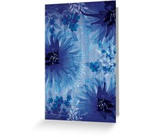 Chrysanthemum on wood grain Greeting Card