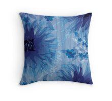 Chrysanthemum on wood grain Throw Pillow